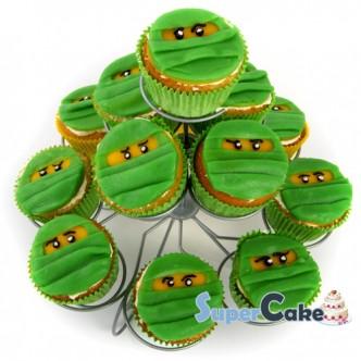 lego-ninjago-cupcakes-groen